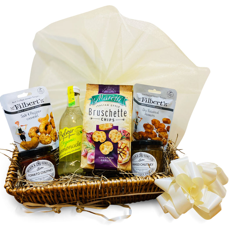 Lemon n Snax Hamper Wicker Gift Hamper Occassionz Ltd (Basket of Love)