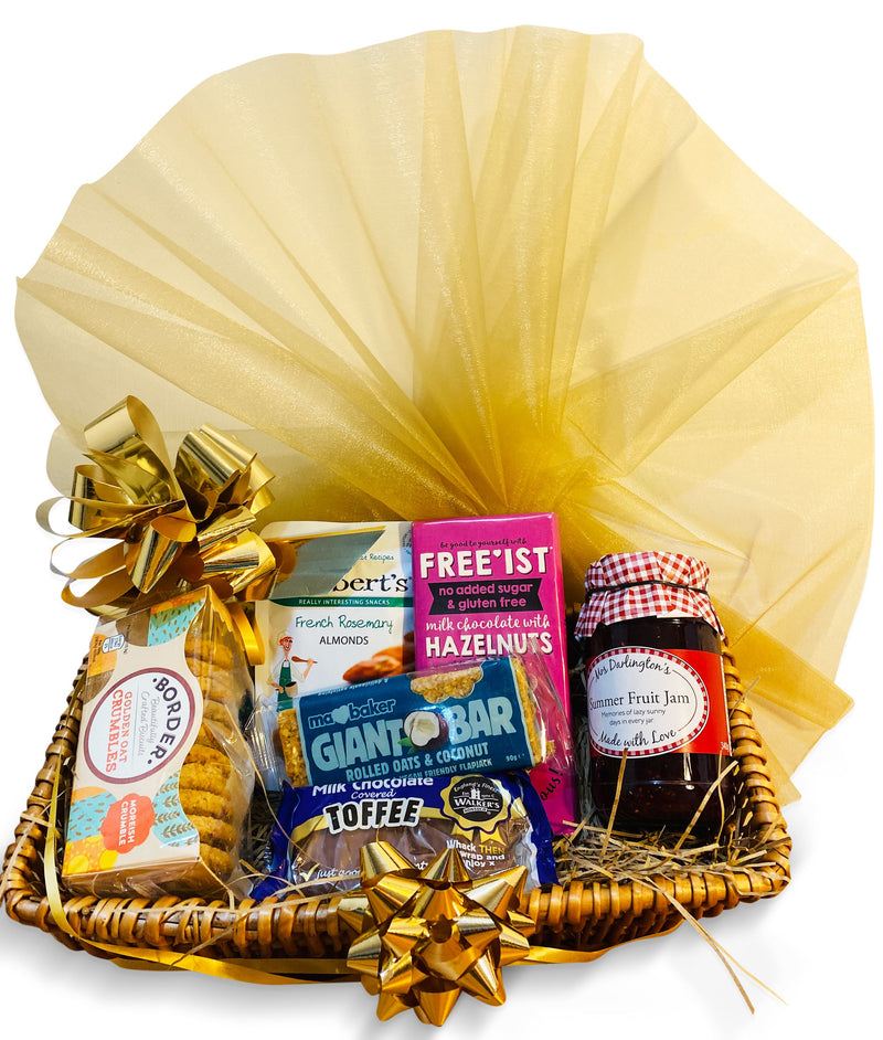 Munchy Hamper Wicker Gift Hamper Occassionz Ltd (Basket of Love)