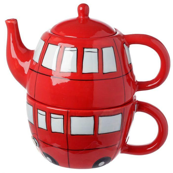 Routemaster Bus Ceramic Teapot & Cup Set for 1 Occassionz Ltd.