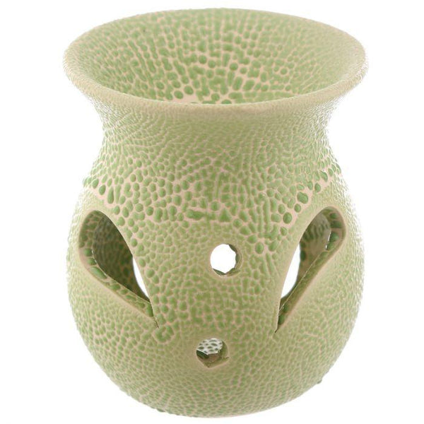 Small Textured Ceramic Oil Burners with Cut Out Pattern Puckator