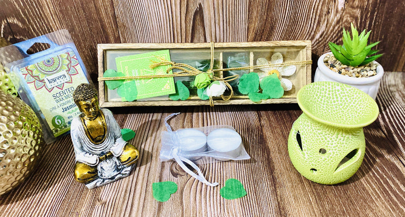 Wellness Zen Gift Hamper for Meditation, Wellness, Relaxation, Calmness, Wellbeing, Mindfulness, Healing, Aromatherapy, Yoga, Stress Relief Occassionz Ltd.