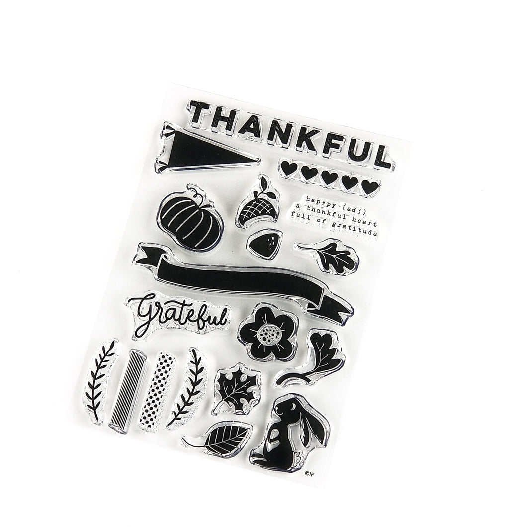 Illustrated Faith Gratitude Documented Stamp
