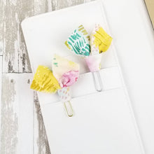 Load image into Gallery viewer, Multi Abstract Paper Clip (Gold Pink Green Blue) - Planner / Bible Journaling / TN Accessory