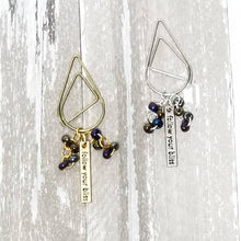 "Load image into Gallery viewer, Dangle ""Follow Your Bliss"" Charm Oil Slick Bead Clip (Bronze Purple Blue Green Gunmetal)"