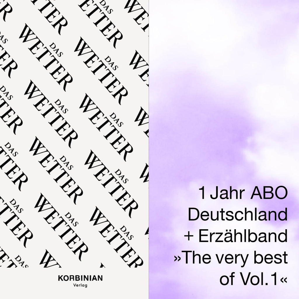 Abo-Special: 4x Das Wetter + Erzählband »The Very Best Of Vol. I« (+ Beutel for free)