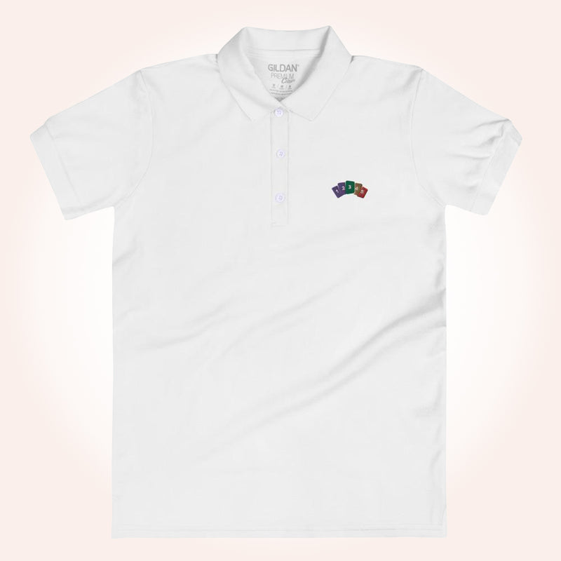 HowMoneyWorks Cards Women's Polo Shirt