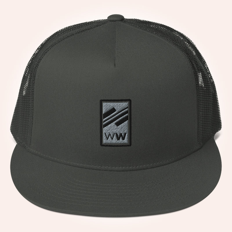 WealthWave W² Black Logo Flat Bill Snapback