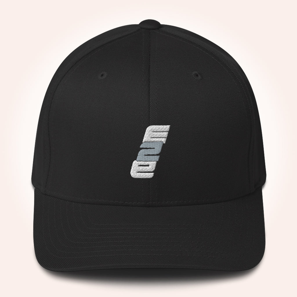 e2E Stacked Logo Fitted Baseball Hat