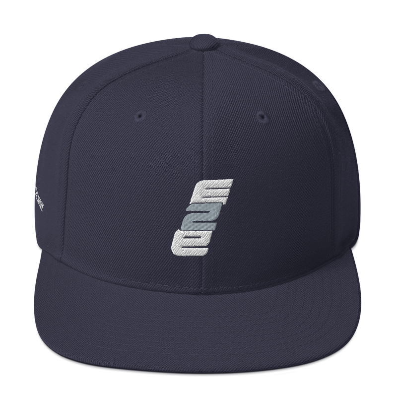 e2E Stacked Logo Snapback Hat