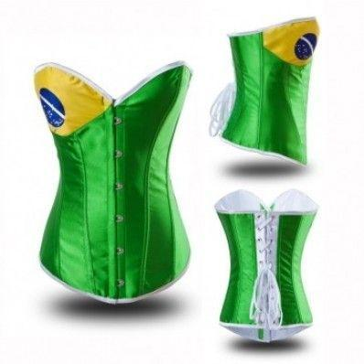 Slim curve flag fashion satin bone corset