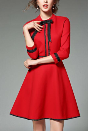 Fashion summer long little formal red dresses for women online store for sale