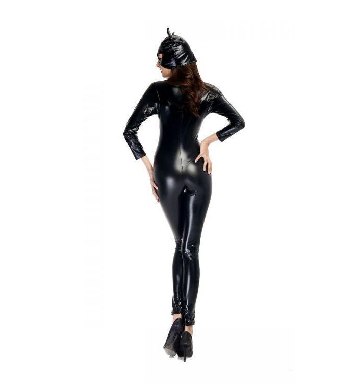 Patent leather fitted leather motorcycle section catwoman plus size costumes