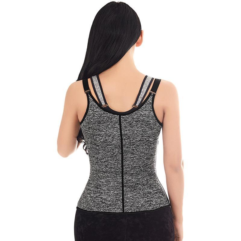 Neoprene zipper sports body sculpting vest corset