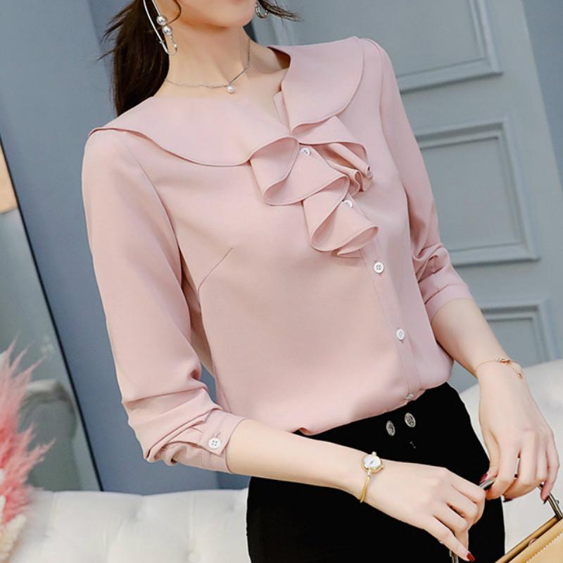 Women's Blouse Spring Autumn Shirt Summer Fashion Long Sleeve Shirts Plus Size Women's Tops Elegant Blouses Ladies Top