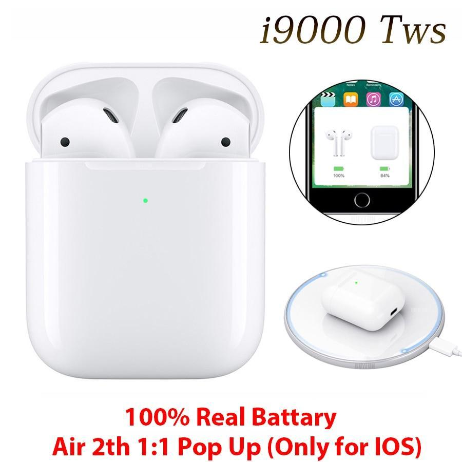 i9000 TWS 100% 3 real batter1:1 Replica With QI Wireless Charging Bluetooth 5.0 Earphone Sports Music Mini Earbuds For Xiaomi k20 Samsung m30s mete 30 Not i2000 i200 i500tws