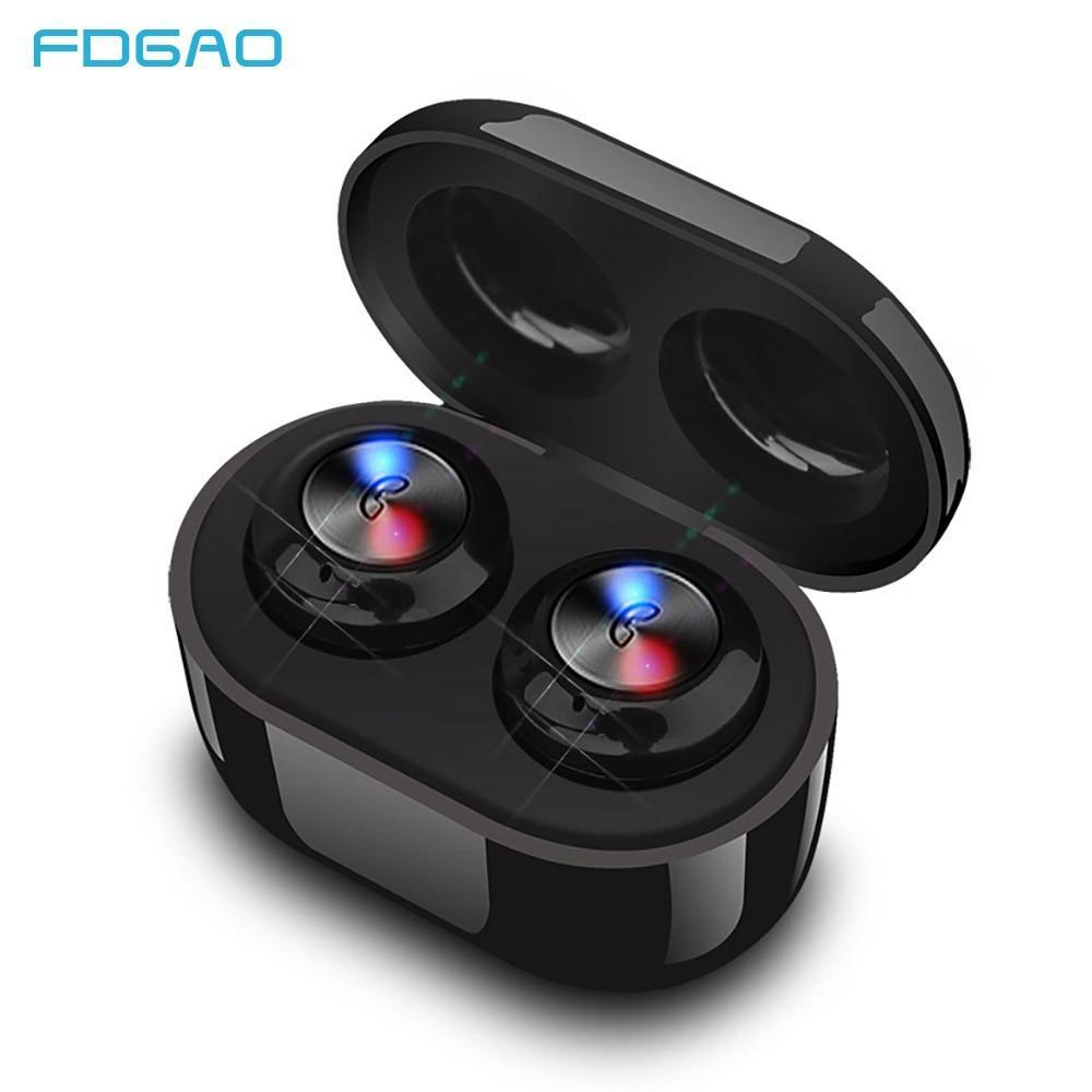 Bluetooth Earphone TWS Bluetooth 5.0 Stereo Wireless Earphones Earbuds Sport Waterproof Gaming Headset With Charging Box Mic