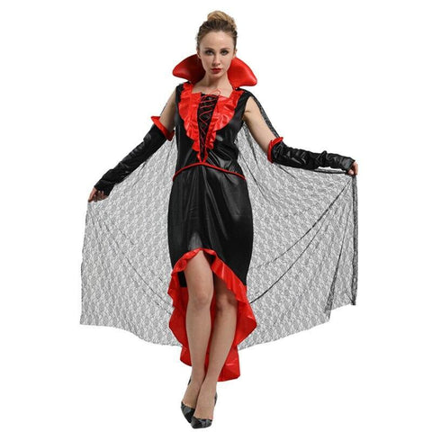 Adult Women's Noble Female Vampire Cosplay Countess Vampires Costume Halloween Carnival Mardi Gras Party Fancy Dress