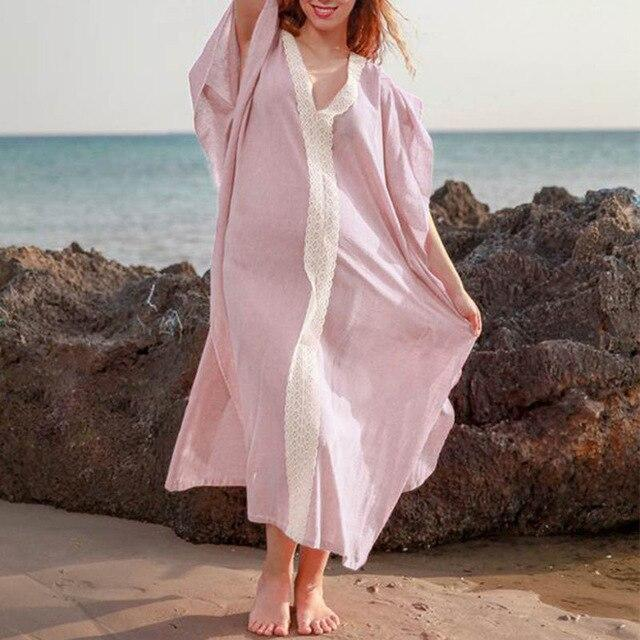 Beach Dresses Summer For Bathing Suit Cover Up Swimwear Dress Lace Skirt East Solid Acetate Sierra Surfer Cover-Ups