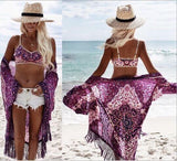 Pareo For Beach Swimsuit Women Dress Sarongs Cover Up Wear Sexy Bathing Suits Chiffon Purple Skirt Loose Flower Polyester Animal