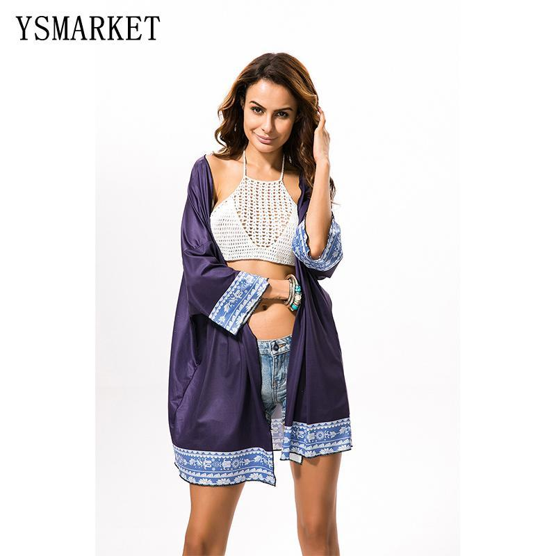 Free shipping Hot Sexy Summer Boho Robe Print Style Long Beach Dresses