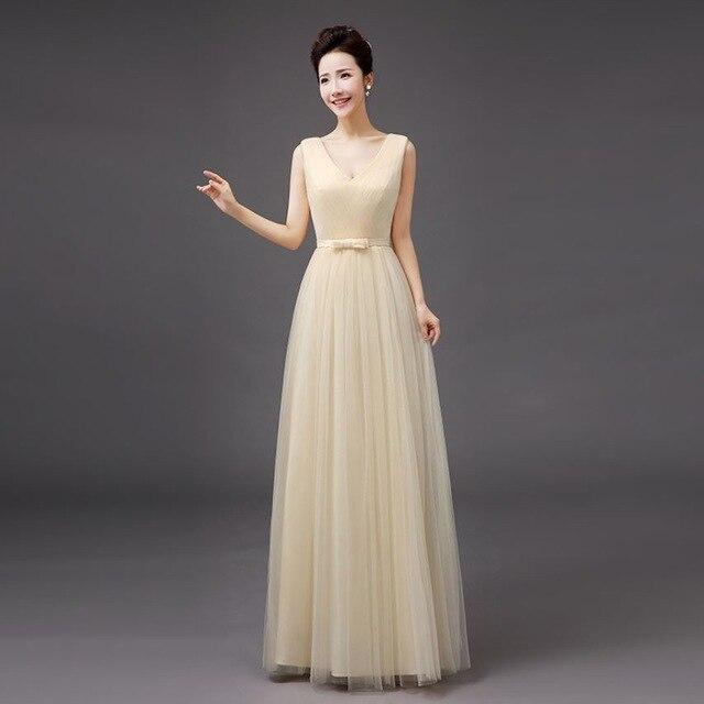 Vestido dama de honor boda new tulle 4 style Off the ShoulderA Line champagne bridesmaid dresses longo Wedding guest Gown