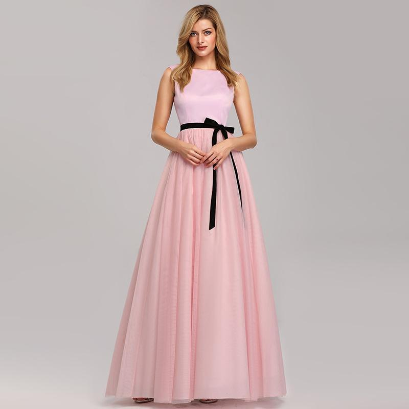 Evening Dresses Pretty Formal Dresses Long Party Gowns A-line High-neck Backless Long Floor-Length Prom Dresses Fashion