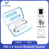 TWS Earbuds Bluetooth 5.0 Wireless Headsets In-Ear Earphones HD Mic Headphones Voice Control Handsfree for iPhone Xiaomi Huawei