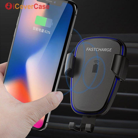 10W Fast QI Wireless Car Charger Gravity Holder For iPhone XS Max XR X XS 8 Plus 8Plus Phone Quick Charge Charging Mount Stand