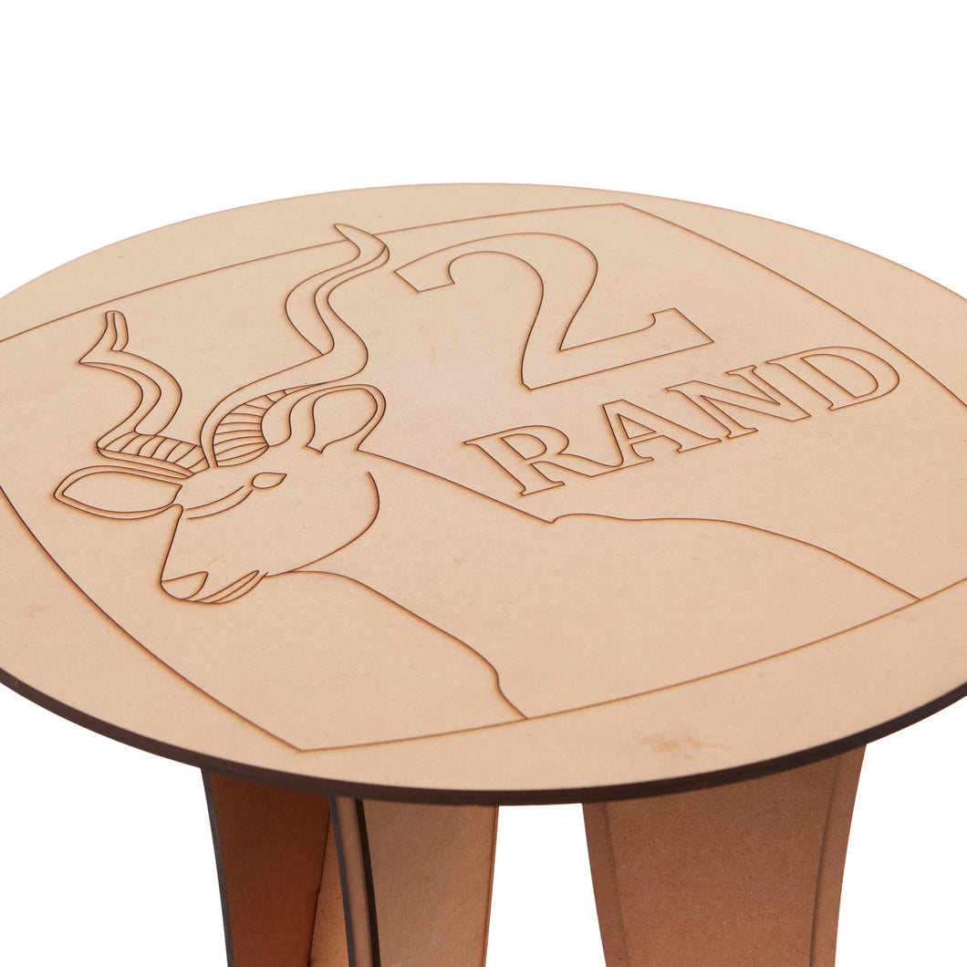 Top view of the Two Rand Table from Scotch & Sofa.