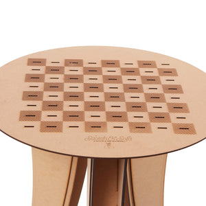 Top view of the Chess Side Table from Scotch & Sofa.