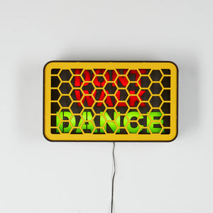 Don't Walk Dance light up sign from the alternative home decoration and interior design shop Scotch & Sofa.