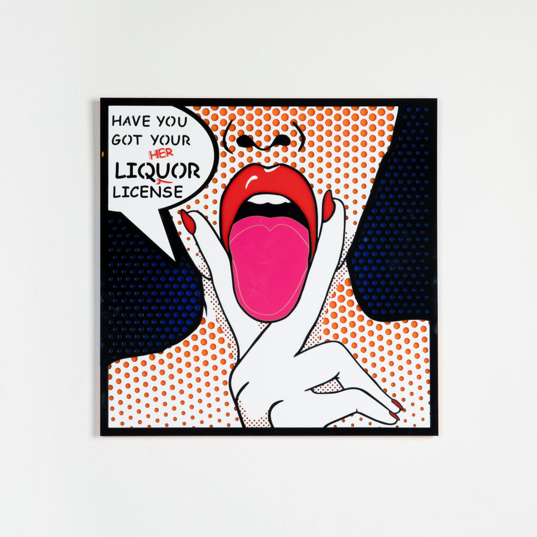 Liquor License Pop Art from the interior design shop Scotch & Sofa.