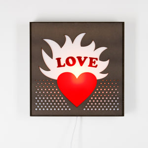 Mounted Love Sign Light from Scotch & Sofa.