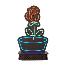 Load image into Gallery viewer, Flower Pot Neon Light from Scotch & Sofa litten up.