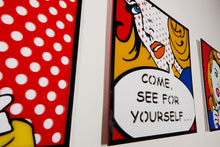 Load image into Gallery viewer, Come See For Yourself Pop Art from Scotch & Sofa.