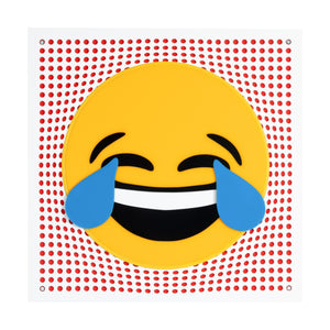 Neon Laugh Emoji Pop Art from Scotch & Sofa.