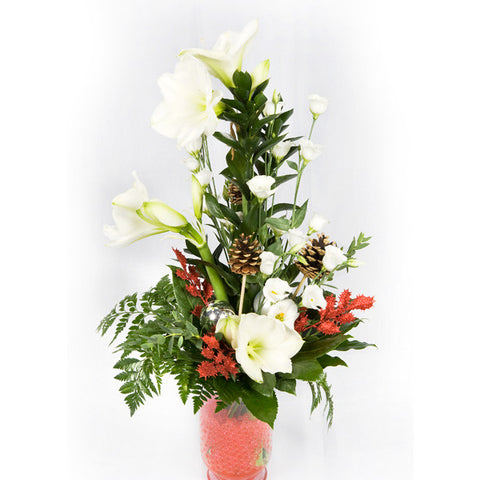 Christmas Arrangment In Vase