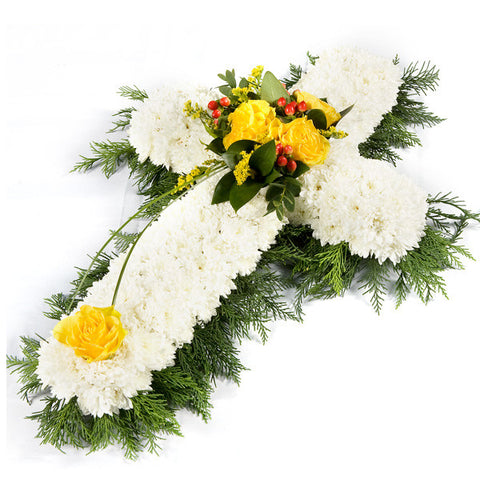 Yellow Cross Wreath