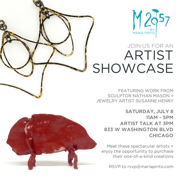 Artist Showcase Featuring Sculpture and Jewelry