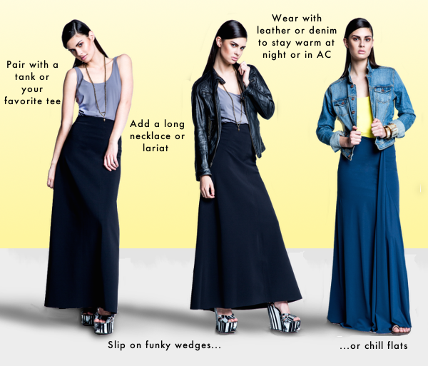 How to Make a Long Skirt Look Casual