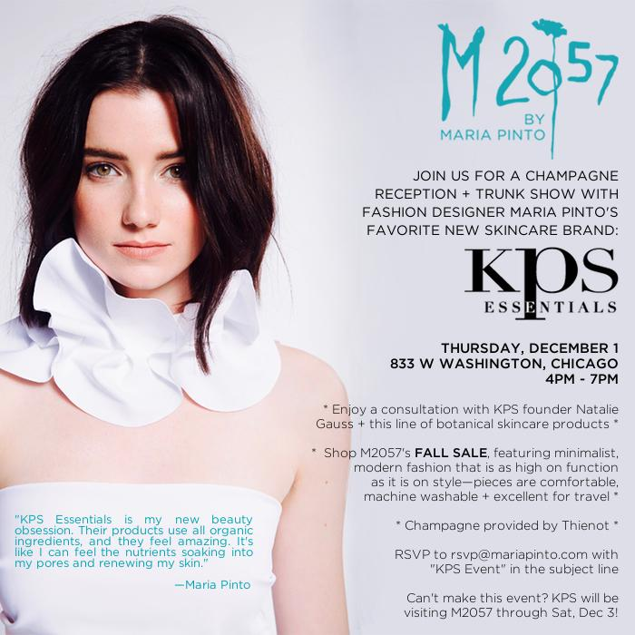 Save the Date! M2057 + KPS Organic Skincare