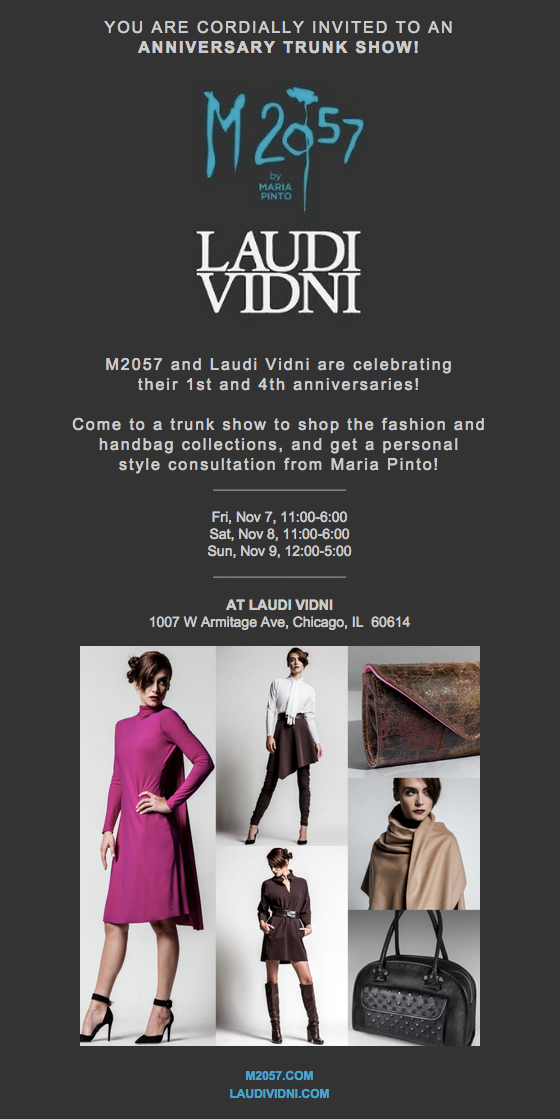 It's M2057's 1st Anniversary Trunk Show!