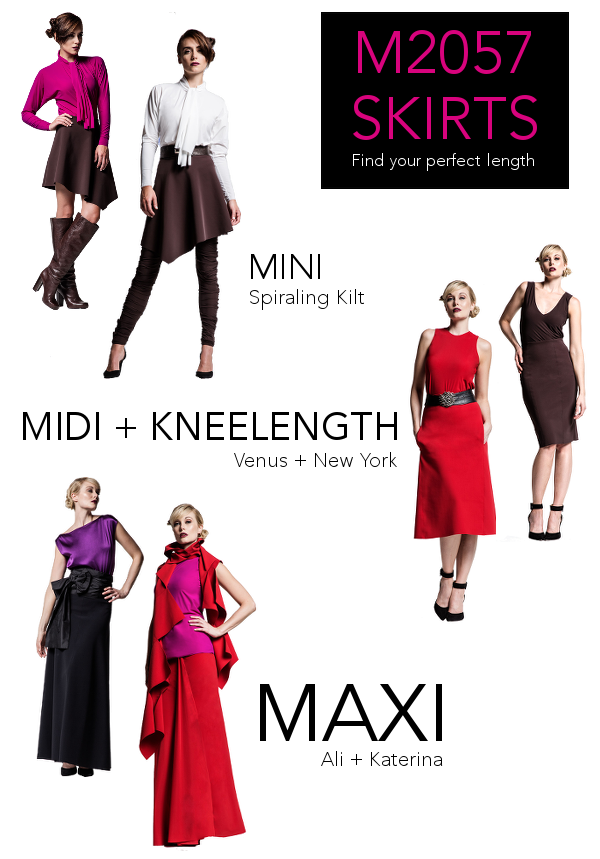 Are You a Mini, Midi, or Maxi Kind of Girl? M2057 Skirts Hit Every Length