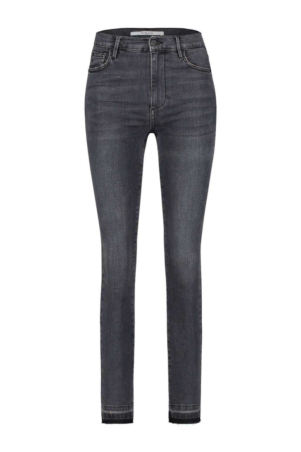 Slim Jeans With Raw Hem