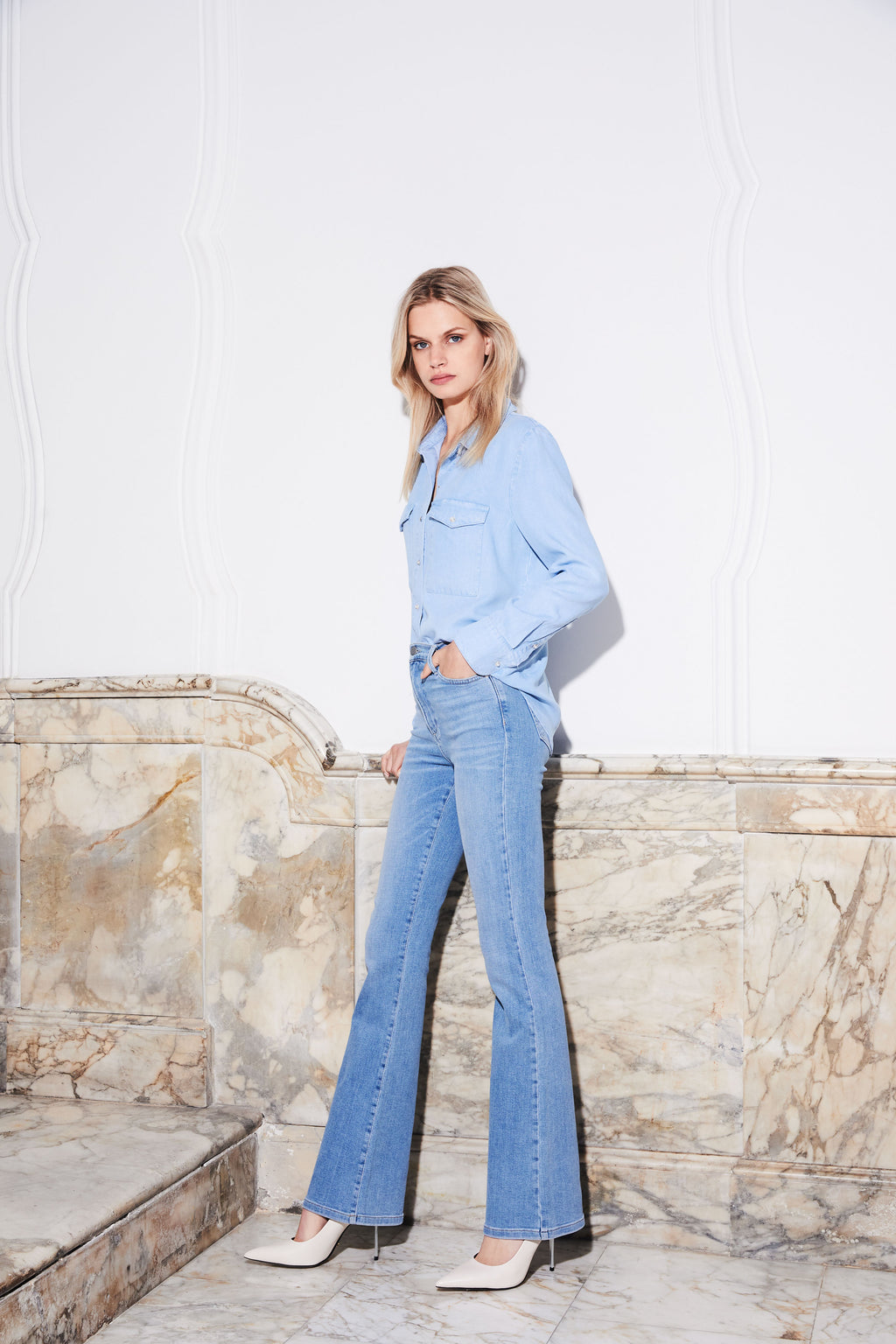 Jane - Flared Jeans Light Vintage