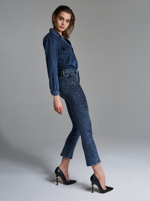Cropped Flared Jeans Acid