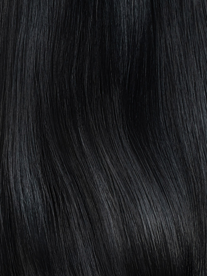 Razzl Dazzl Hair Jet Black Colour Swatch