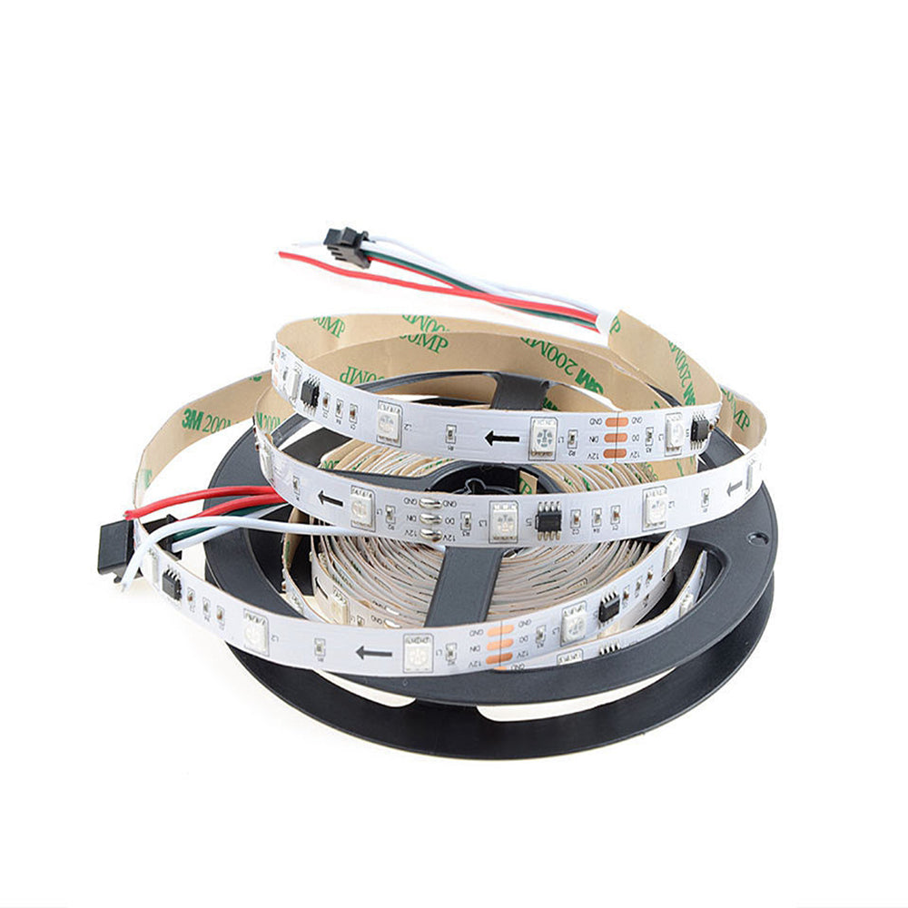 SMD 5050 WS2811 IC led strip 12V Black/White PCB - 5 Meter - SupplyLedStrip