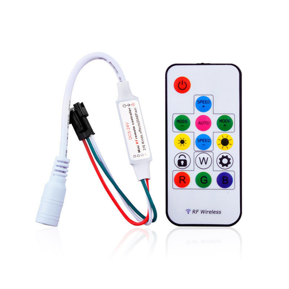 IC Led strip SP103E Mini 14 keys RF wireless Remote Controller - SupplyLedStrip