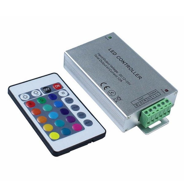 DC12-24V 24Key RGB IR Remote Controller 12/24A Output Current - SupplyLedStrip